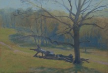 Painting on Chorleywood common