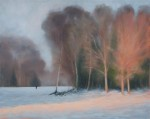 Oil painting of Winter on Chorleywood common