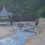 Oil on canvas study of Sandsend Beck