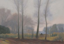 Plein air painting from Chorleywood common.