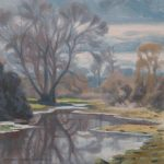 Oil study from the river Chess