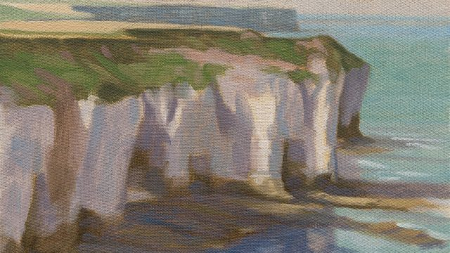Flamborough cliffs oil study