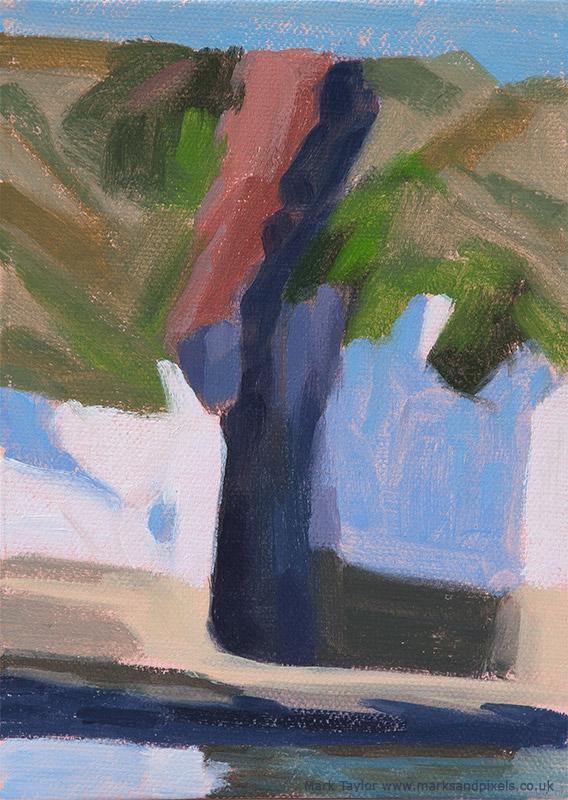 Oil study of Flamborough colours