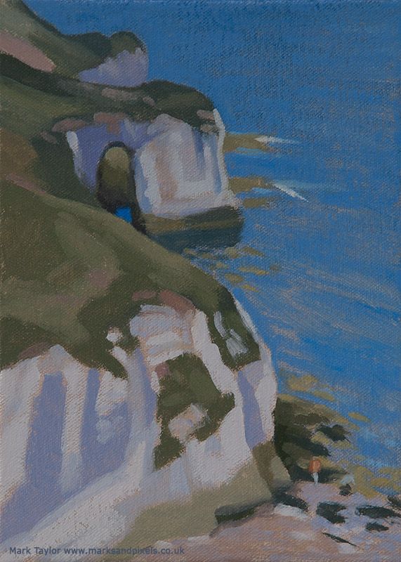 Oil study of North Landing arch