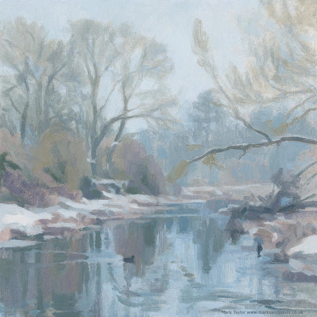 winter on the river Chess