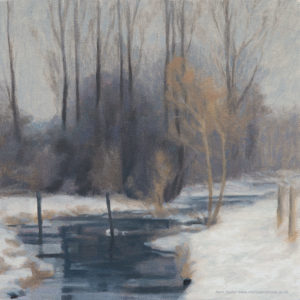 river chess in winter