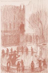 sanguine drawings trafalgar square london no.2
