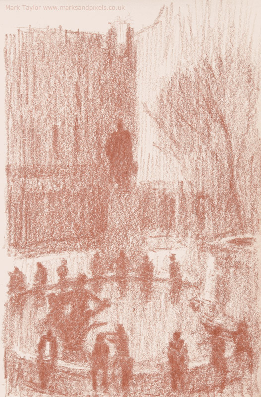 sanguine drawings trafalgar square london no.2