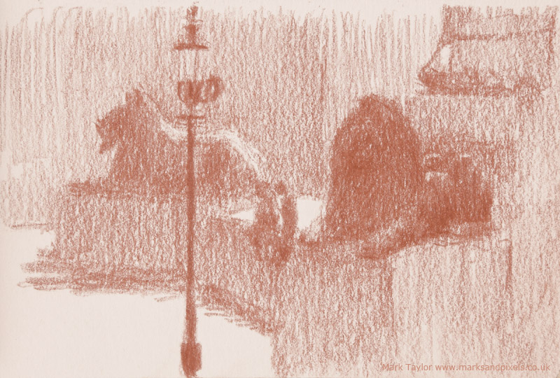sanguine drawings trafalgar square london no.3