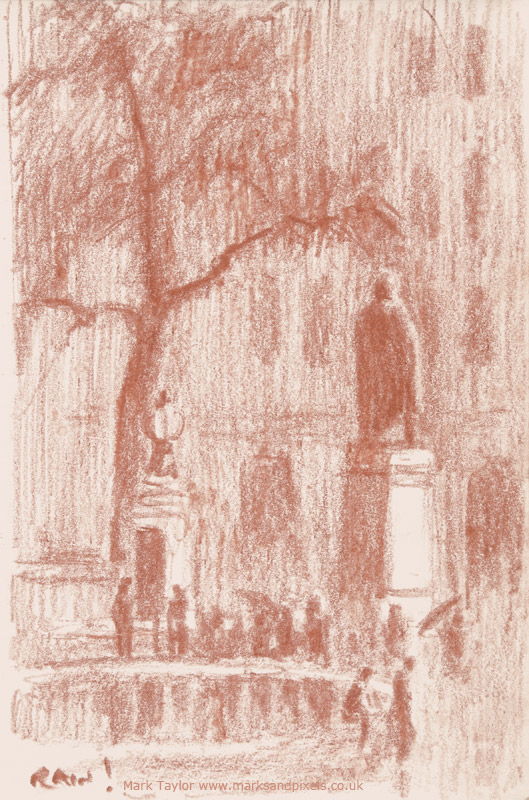 sanguine drawings trafalgar square london no.4
