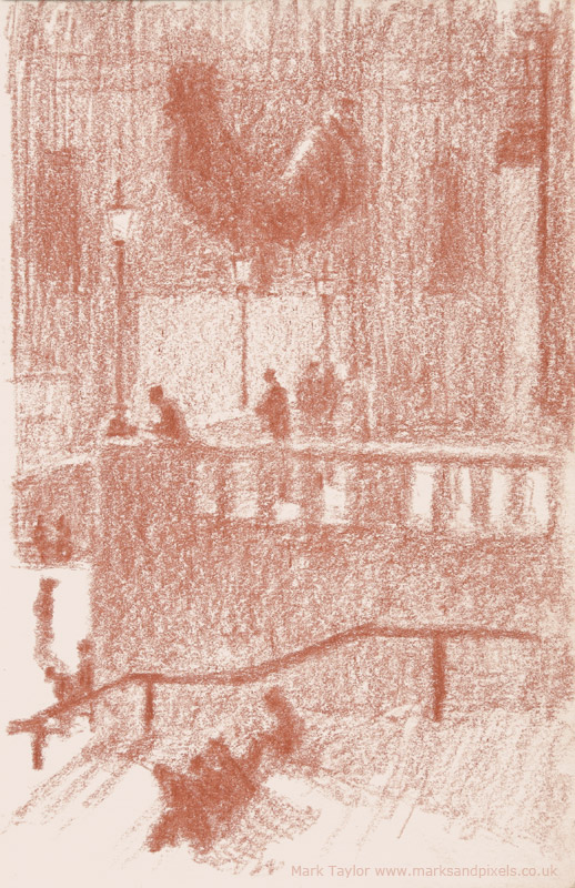 sanguine drawings trafalgar square london no.5