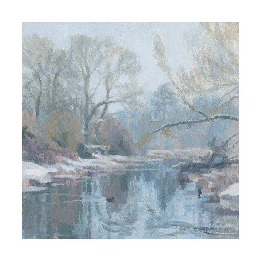 river chess winter morning