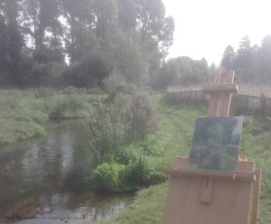 Plein air painting and drawing