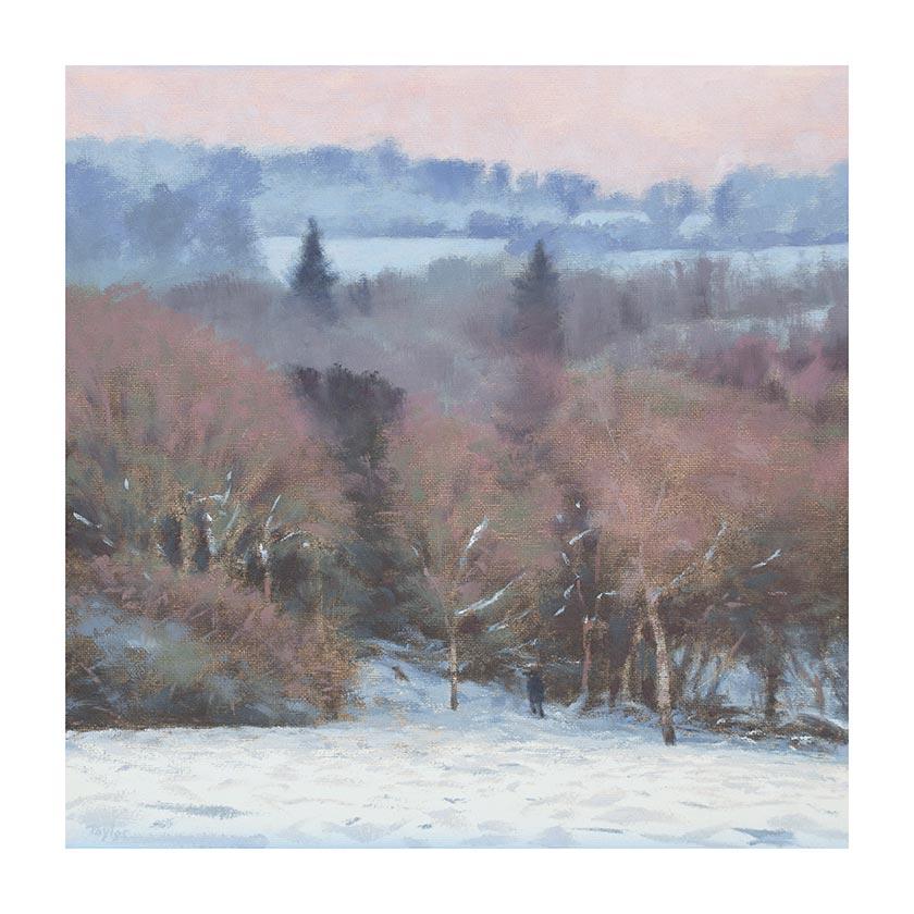 winter view chorleywood common print