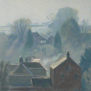 Frosty morning light oil painting