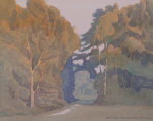 Chorleywood watercolour landscape painting