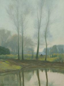 Spring Chorleywood landscape painting