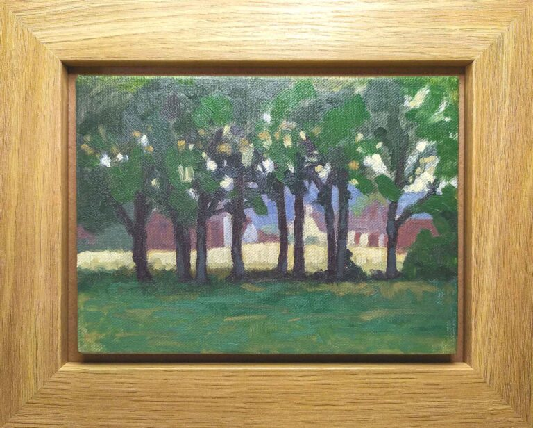 summer oil painting from chorleywood common