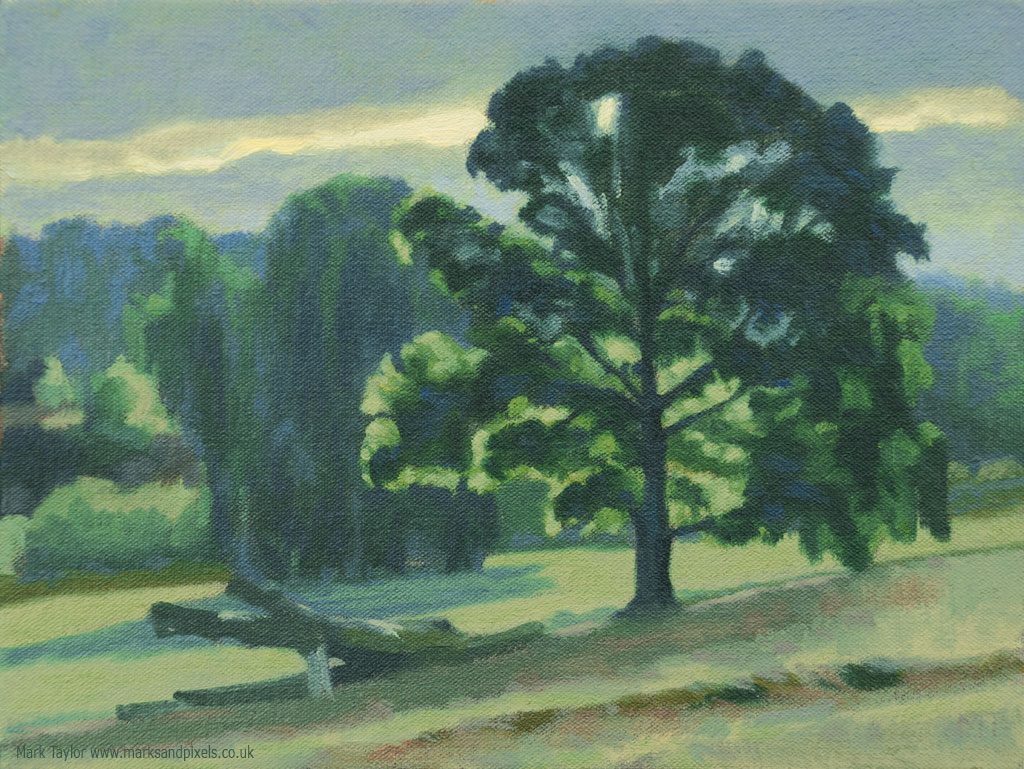 Chiltern landscape oil painting