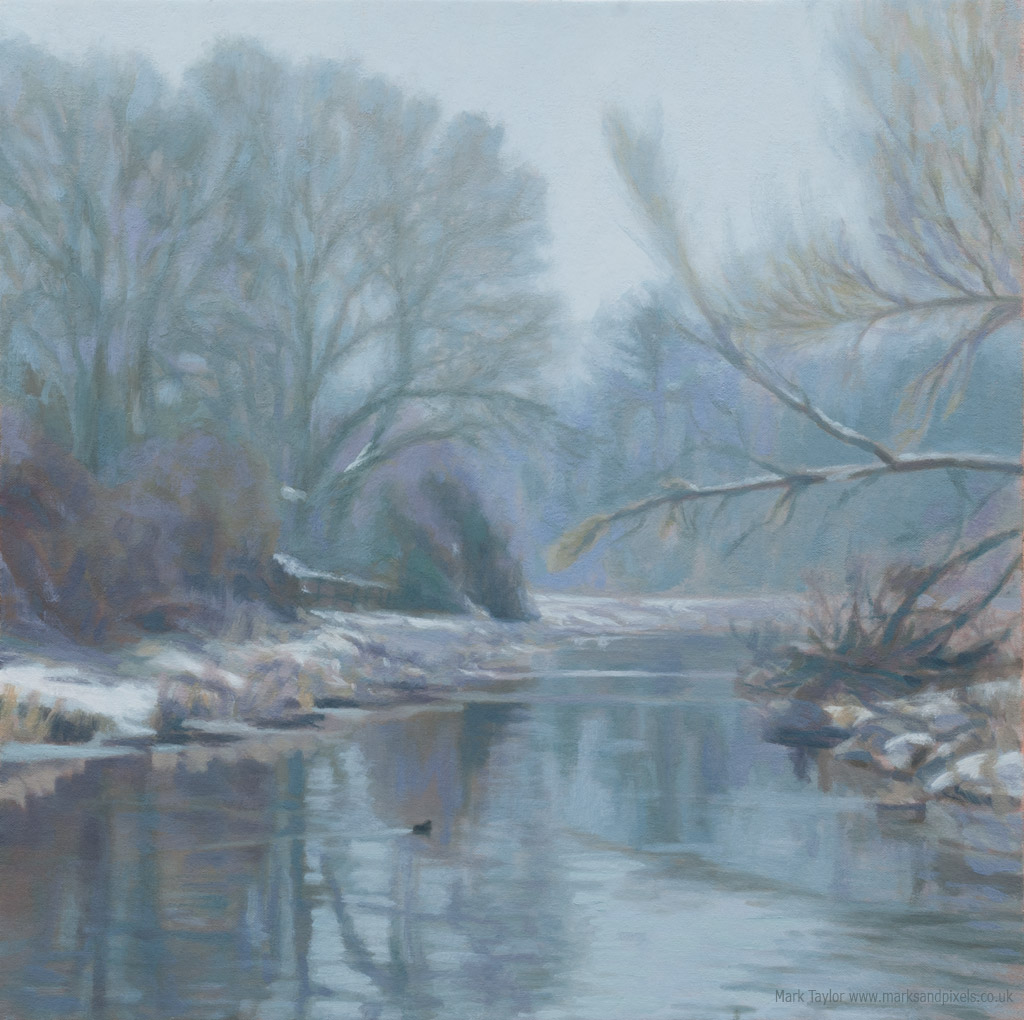Winter colours oil painting