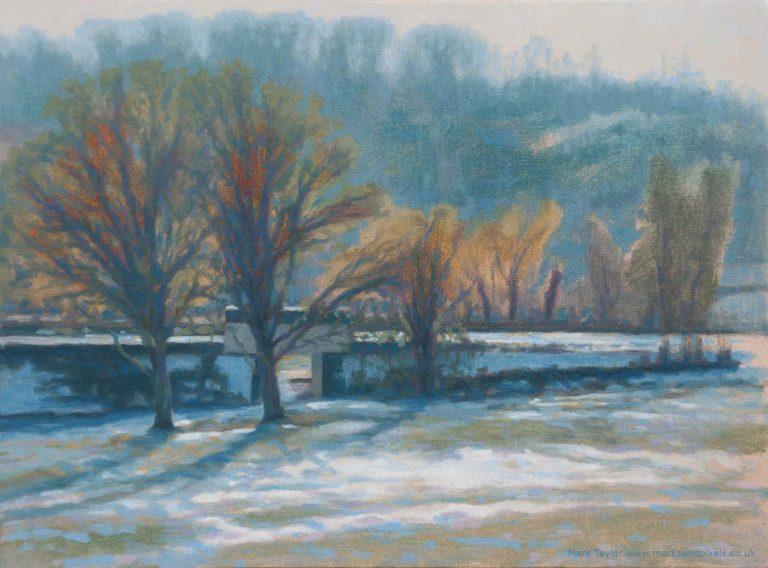Chorleywood common snow