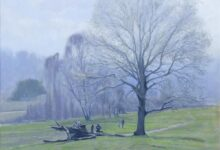landscape paintings by mark taylor oil painting of spring morning light on the common