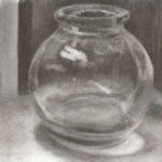Still life paintings and drawings by Mark Taylorcharcoal drawing glass jar
